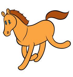 Funny running horse vector