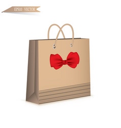 gift paper bag isolated on white background vector image