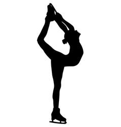 Girl skater biellmann spin figure vector