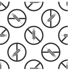 Gluten free grain seamless pattern no wheat sign vector