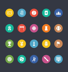 Glyphs colored icons 48 vector