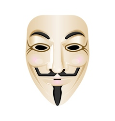 Hacker mask icon isolated on white stylized vector