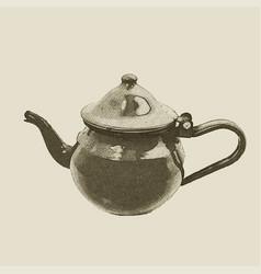 hand drawn vintage kettle vector image