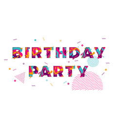Happy birthday greeting card confetti papercut vector