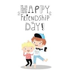 Happy Friendship Day vector