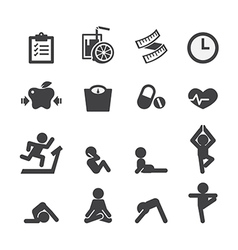 health and yoga icon vector image