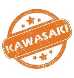 Kawasaki round stamp vector
