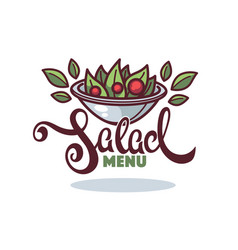 Line art healthy cooking logo and organic food vector