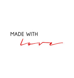 made with love modern and handwritten inscription vector image