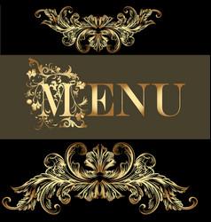 menu design in vintage style vector image