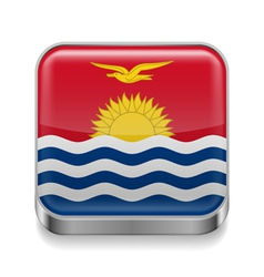 Metal icon of Kiribati vector image