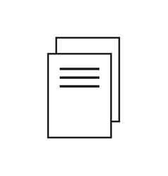 Multiple documents black icon isolated on vector