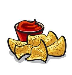 nachos vector image
