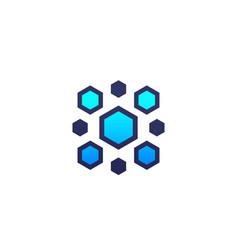 Nanoparticles logo vector