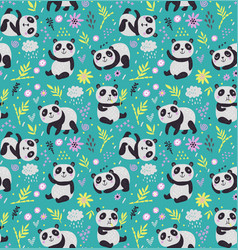 pandas pattern vector image