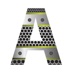 perforated metal letter A vector image