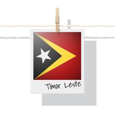 Photo of timor leste flag on white background vector