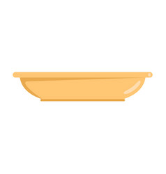 plate icon flat style vector image