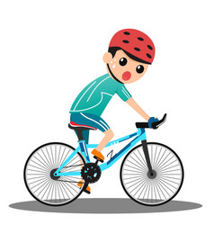 racing cyclist in action cartoon man cycling vector image