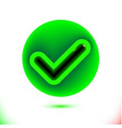 realistic green checkmark icon tick symbol in vector image