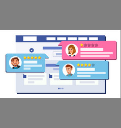 review rating web page design online store vector image