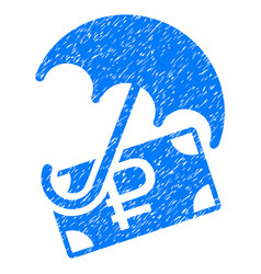Rouble financial safety grunge icon vector