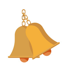 School bells chain hang alarm icon vector