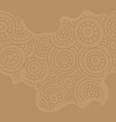 Seamless african pattern sketch circular vector