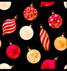 seamless christmas decorations vector image