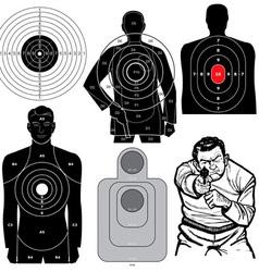 Set 6 shooting targets vector
