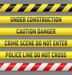 Set danger tapes vector
