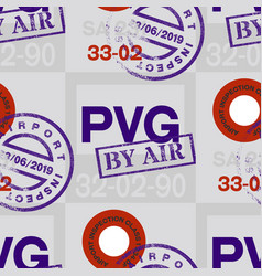 shanghai airport tag seamless pattern vector image