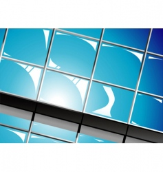 shiny window reflections vector image