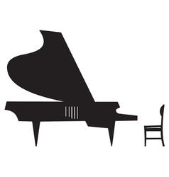 Silhouette of a grand piano vector