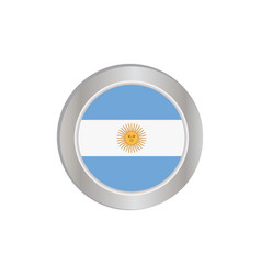 Simple argentine flag was isolated vector