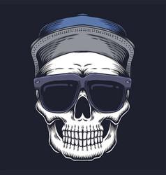 skull eyeglasses vector image
