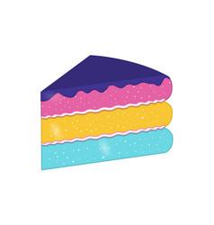 Slice cake vector