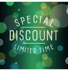 slogan bokeh discount vector image