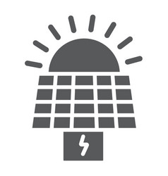solar panel glyph icon ecology and power sun vector image