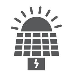 Solar panel glyph icon ecology and power sun vector