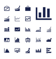 Statistic icons vector