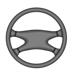 Steering wheelcar single icon in monochrome style vector