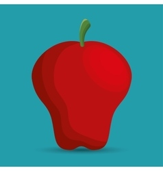 Symbol school apple education online vector