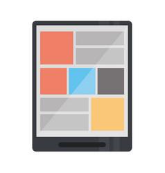 Tablet device technology digital website vector