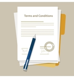 Terms and condition document paper legal vector