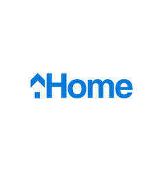 the minimalist logo of the home vector image