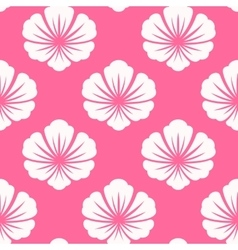 Wallpaper seamless with white flower vector