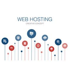 Web hosting infographic 10 steps templatedomain vector