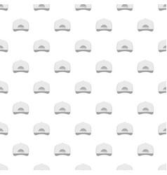 white baseball cap back pattern seamless vector image