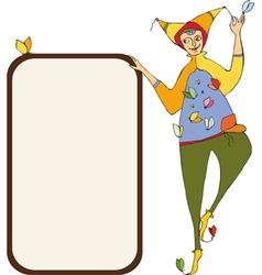 Clown Signboard vector image vector image